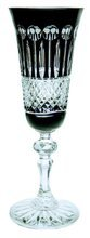 Black crystal champagne glasses 150 ml French