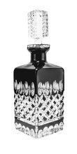 Black crystal decanter for whisky 700ml