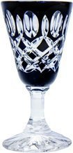 Black crystal glasses for vodka 40ml