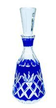 Blue crystal carafe for vodka 500ml