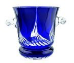 Cobalt crystal bucket for champagne
