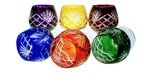 Colour crystal glasses for cognac 250ml