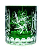 Colour crystal glasses for whiskey 280ml