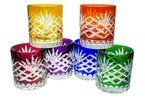 Colour crystal glasses for whisky 280ml