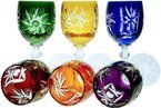 Colour crystal liqueur glasses 45ml