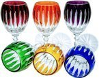 Colour crystal liqueur glasses 60ml