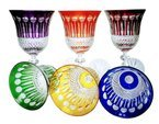 Colour crystal wine glasses 220ml  French