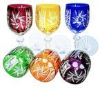 Colour crystal wine glasses 240ml