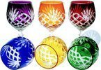 Colour crystal wine glasses 280ml