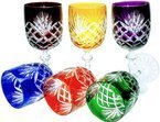 Colour crystal wine glasses in colour 240ml