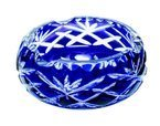 Crystal blue ashtray