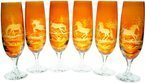 Crystal glasses for champagne with horses motif 170ml