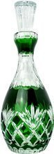 Green crystal carafe for wine 800ml