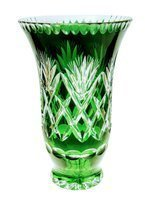 Pineapple Orange Crystal Vase