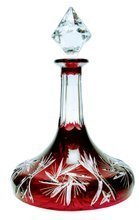 Red crystal carafe 800ml