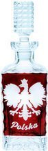 Red crystal decanter with polish eagle 700ml