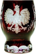 Red crystal glass with polish eagle 25ml
