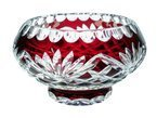 Ruby crystal bowl