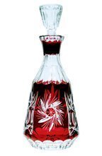 Ruby crystal glass carafe for Vodka Młynek Olive 500 ml
