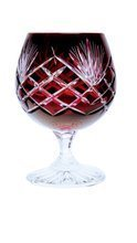 Ruby crystal glasses for cognac 250ml Pineapple