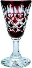 Ruby crystal glasses for vodka 40ml