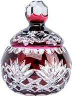 Ruby crystal sugar bowl Pineapple