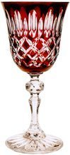 Ruby crystal wine glasses 220 ml Olive grate